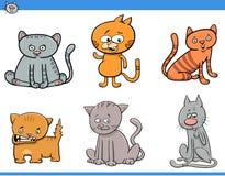 猫被设置的漫画人物 库存照片