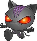 猫设计梯度例证ninja没有 库存图片