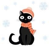 猫设计梯度帽子例证没有 免版税库存图片