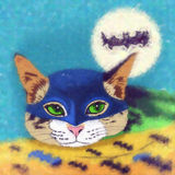 猫超级英雄 棒 图库摄影