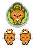猫逗人喜爱喵喵叫 免版税图库摄影