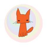 猫逗人喜爱的红色 图库摄影