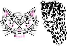 猫逗人喜爱的老虎例证艺术设计 库存图片
