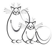 猫速写二 免版税库存照片