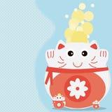 猫金钱更多卡片 免版税库存照片