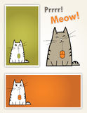 猫集合固定式 免版税库存照片