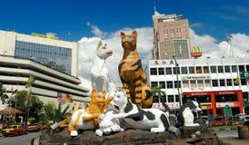 猫雕象,古晋,沙捞越,马来西亚 图库摄影