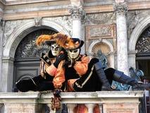 猫面具,威尼斯狂欢节  库存照片