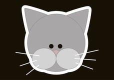 猫题头 库存例证
