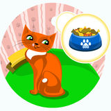 猫食 皇族释放例证
