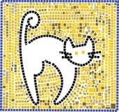 猫马赛克 免版税库存图片