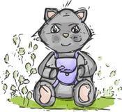 猫水彩 免版税库存图片