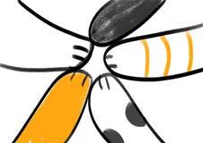 猫5手协调 向量例证