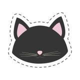 猫画象桃红色被加点的耳朵线 免版税库存照片