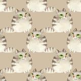 猫仿造无缝 库存照片