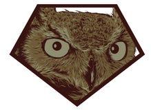 猫头鹰商标 图库摄影