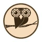 猫头鹰商标 免版税图库摄影