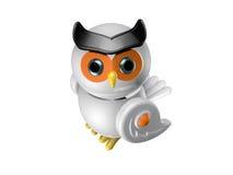 猫头鹰机器人 免版税库存照片