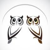 猫头鹰的传染媒介图象 免版税库存照片