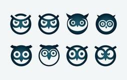 猫头鹰符号集 免版税库存照片