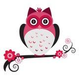 猫头鹰粉红色 图库摄影