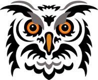猫头鹰纹身花刺 库存照片