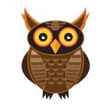 猫头鹰,不同的颜色猫头鹰  库存图片