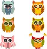 猫头鹰,猫头鹰例证,猫头鹰传染媒介 免版税库存图片