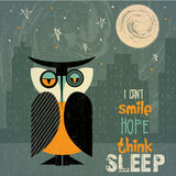 猫头鹰以失眠 库存图片