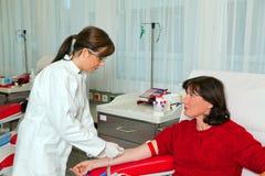 献血实验室 库存照片