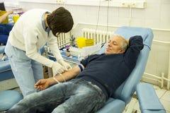 献血手 库存图片