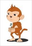猴子海报 免版税库存图片