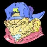 猴子艺术图画 免版税库存图片