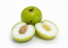 猴子苹果果子 库存图片