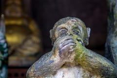 猴子雕象  免版税库存图片