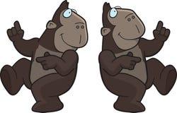 猿跳舞 免版税库存照片
