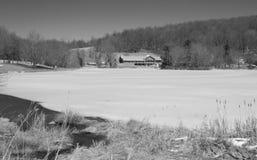 水獭小屋峰顶在冬天 库存图片
