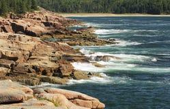 水獭峭壁,缅因 库存照片