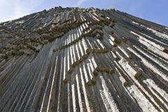 玄武岩叫作石头的交响乐的岩层,在亚美尼亚 免版税图库摄影