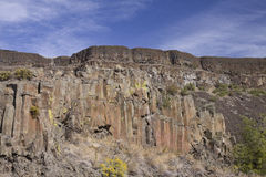 玄武岩峭壁, Sun湖干瀑布国家公园,华盛顿州 库存图片