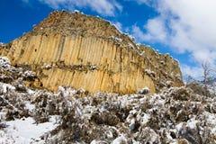 玄武岩峭壁 库存图片