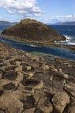 玄武岩形成岩石苏格兰staffa 库存图片