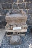 玄武岩扶手椅子在Korazim 库存照片