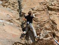 玄武岩攀岩运动员1 库存图片