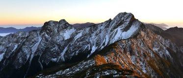 玉山国家公园Mt jady主要峰顶 免版税库存图片