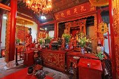 玉山的寺庙在还剑湖,河内越南 库存图片