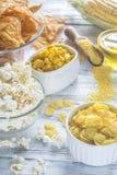 玉米产品的变异 免版税库存照片