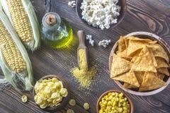 玉米产品的变异 图库摄影