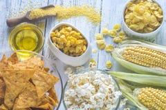 玉米产品的变异 免版税图库摄影