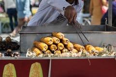 玉米供营商在Istambul 免版税库存照片